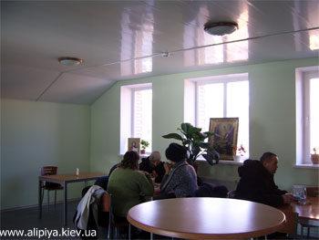 При Голосеевском мужском монастыре функционирует трапезная
