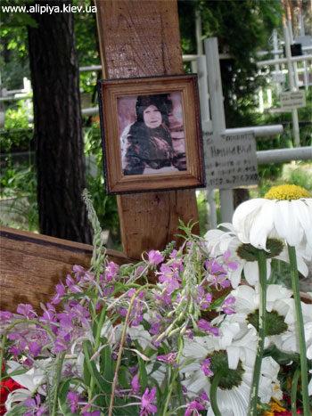 Фотография блаженной Алипии на могиле на Лесном кладбище