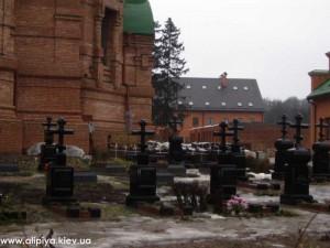 кладбище монахов, могилы монахов, кладбище в Голосеево, монастырь Голосеево
