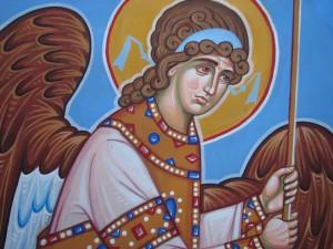 Роспись барабана часовни (предстоящий ангел)