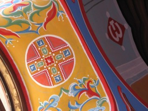 Роспись часовни (оконные арки барабана)