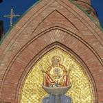 Богородица икона, фреска Богородицы, мозаика Иконы Богородицы, Голосеевский Монастырь икона