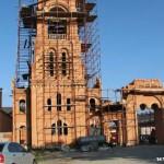 колокольня, постройка монастыря Голосеево, голосеево фотографии