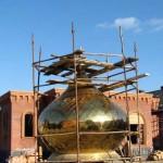купол, стройка монастырь, монастырская постройка, купола голосеево монастырь